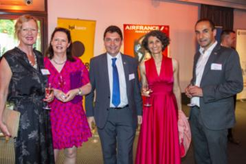 Pictured l to R:  Cliona McGowan (Director, France Ireland Chamber of Commerce), Mary Honohan (International Tax Partner, PwC), Senator Olivier Cadiç (UDI senator for French citizens living abroad), Annie Réa (newly elected Secretary, CCIFI Council 2019) and Mathieu Gorge (President France Ireland Chamber of Commerce).