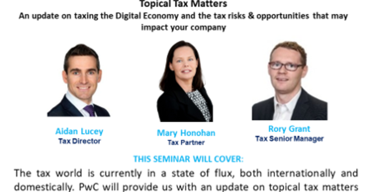 Breakfast Seminar - Topical Tax Matters | FRENCH IRELAND