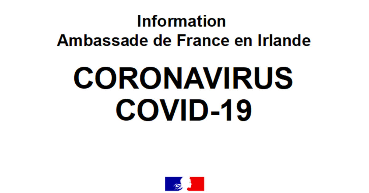 Covid 19 Point De Situation Et Recommandations French Ireland Chamber Of Commerce